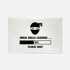 Ninja Skills Loading Rectangle Magnet