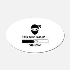 Ninja Skills Loading 22x14 Oval Wall Peel