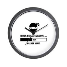 Ninja Skills Loading Wall Clock