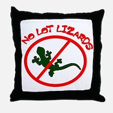 No Lot Lizards Throw Pillow