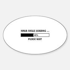 Ninja Skills Loading Sticker (Oval)