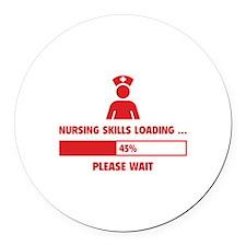 Nursing Skills Loading Round Car Magnet