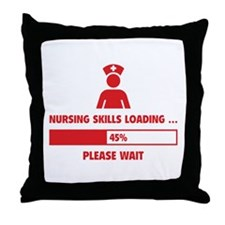 Nursing Skills Loading Throw Pillow