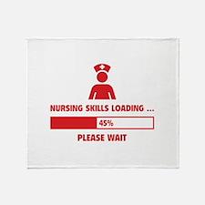 Nursing Skills Loading Throw Blanket