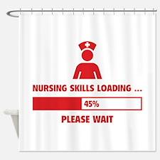 Nursing Skills Loading Shower Curtain
