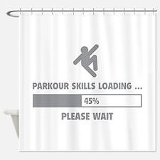 Parkour Skills Loading Shower Curtain