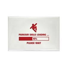 Parkour Skills Loading Rectangle Magnet (10 pack)
