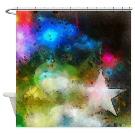 Surreal Christmas Tree Shower Curtain By Iloveyou1
