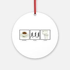 COFFEE - RUN - POO Ornament (Round)