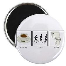 COFFEE - RUN - POO Magnet
