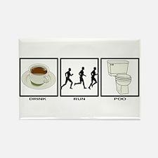 COFFEE - RUN - POO Rectangle Magnet