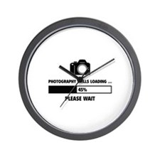 Photography Skills Loading Wall Clock