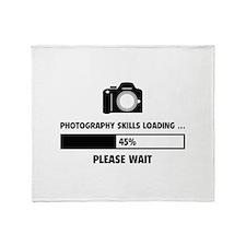 Photography Skills Loading Throw Blanket