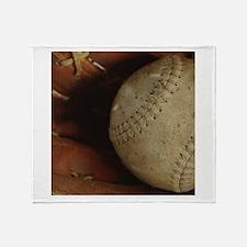 Vintage Baseball Throw Blanket