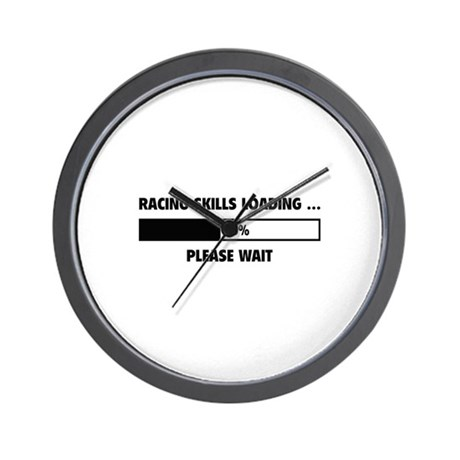 Racing Skills Loading Wall Clock