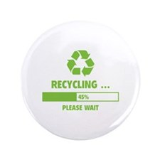 """RECYCLING ... 3.5"""" Button (100 pack)"""
