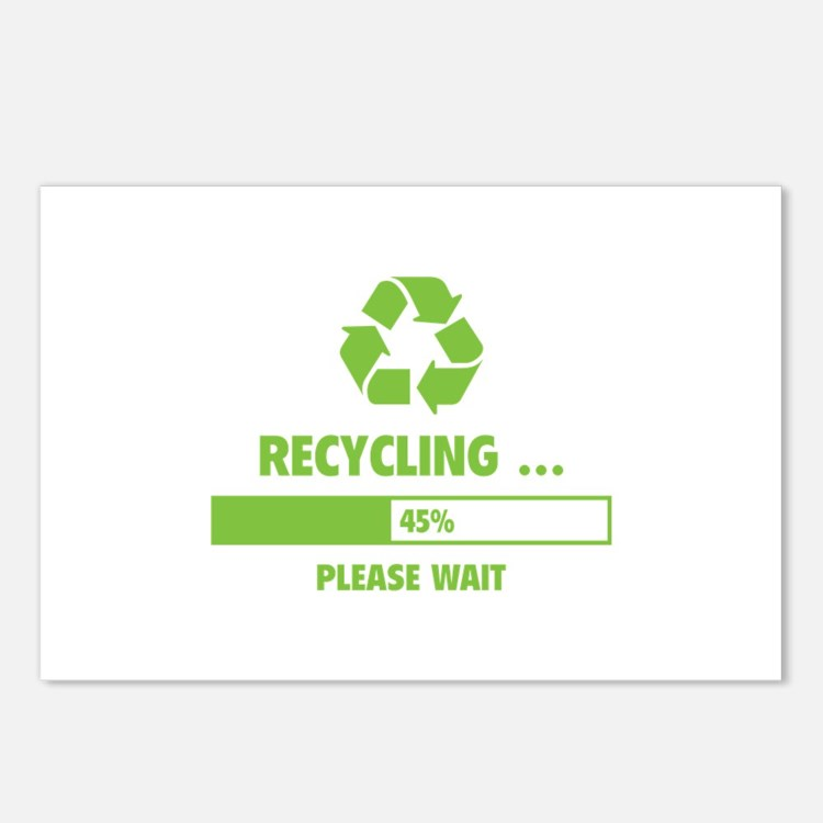 RECYCLING ... Postcards (Package of 8)