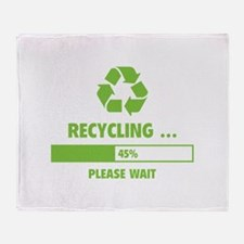 RECYCLING ... Throw Blanket