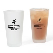 Rollerskating Skills Loading Drinking Glass