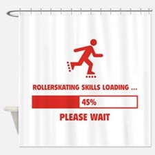 Rollerskating Skills Loading Shower Curtain