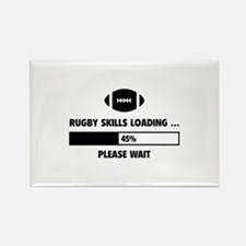 Rugby Skills Loading Rectangle Magnet