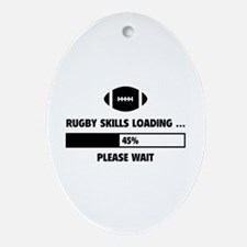 Rugby Skills Loading Ornament (Oval)