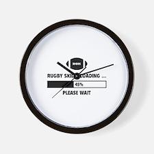 Rugby Skills Loading Wall Clock