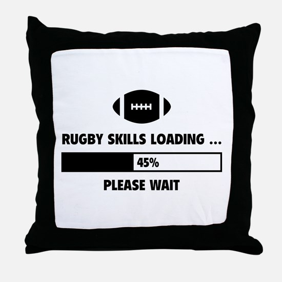 Rugby Skills Loading Throw Pillow