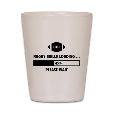 Rugby Skills Loading Shot Glass