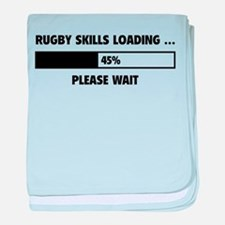 Rugby Skills Loading baby blanket