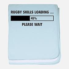Rugby Skills Loading baby blanket