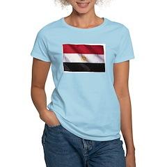 Wavy Egypt Flag Women's Pink T-Shirt