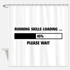Running Skills Loading Shower Curtain