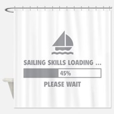Sailing Skills Loading Shower Curtain