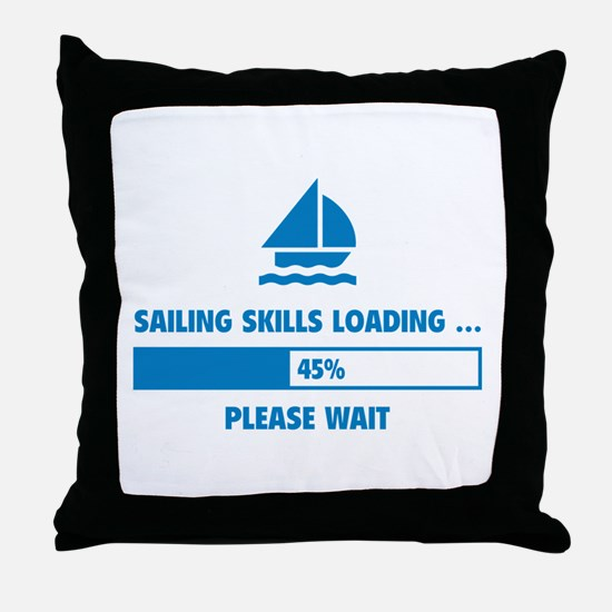Sailing Skills Loading Throw Pillow
