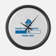 Sailing Skills Loading Large Wall Clock