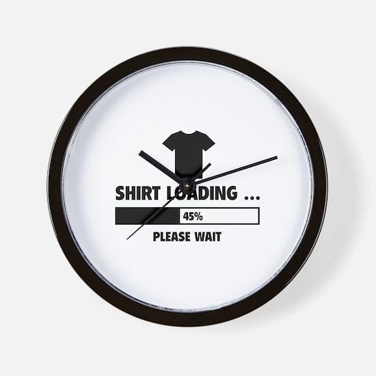 Shirt Loading Wall Clock