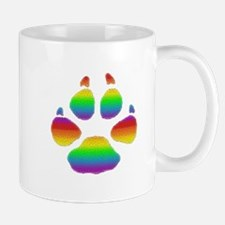 RAINBOW STRIPED BEAR PAW Mug