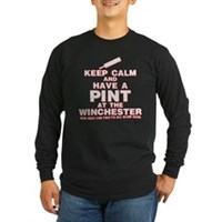 Keep Calm And Have A Pint Long Sleeve Dark T-Shirt