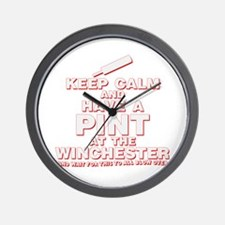 Keep Calm And Have A Pint Wall Clock