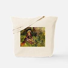 Mrs Renoir with dog Tote Bag
