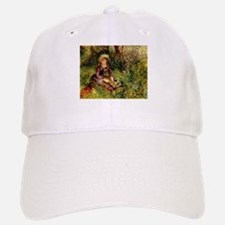 Mrs Renoir with dog Baseball Baseball Cap