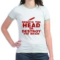 Remove The Head or Destroy The Brain Jr. Ringer T-