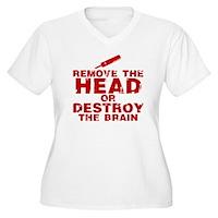 Remove The Head or Destroy The Brain Women's Plus