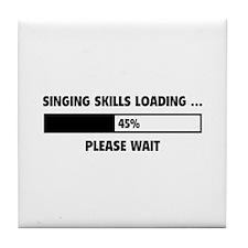 Singing Skills Loading Tile Coaster