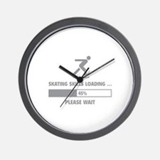 Skating Skills Loading Wall Clock