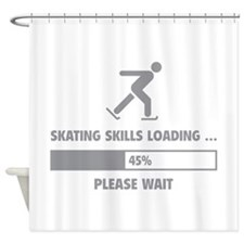 Skating Skills Loading Shower Curtain