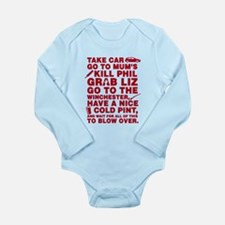 Shaun Of The Dead Montage Long Sleeve Infant Bodys