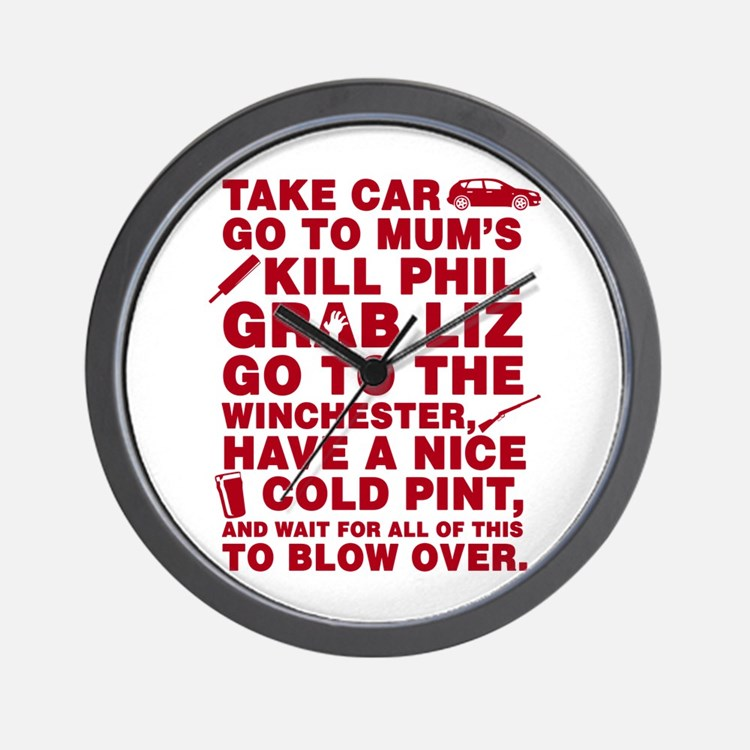 Shaun Of The Dead Montage Wall Clock