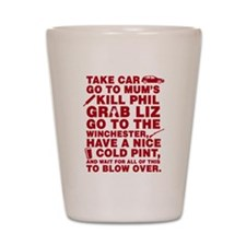 Shaun Of The Dead Montage Shot Glass